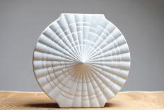 White Op Art vase by Winterling Bavaria by Eclectivist on Etsy, $120.00
