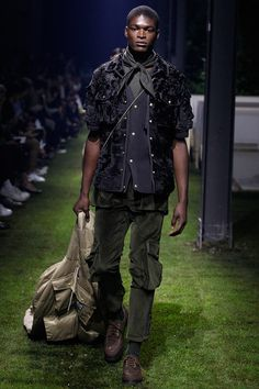 Moncler Gamme Bleu ss17 ... kind of insane but the layering is really nice