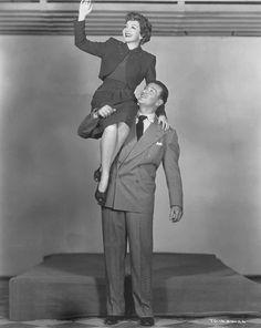 John Wayne and Claudette Colbert