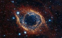 Просмотреть обои helix nebula, космос, звёзды, взрыв, блеск
