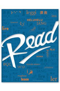 Blue Multilingual Read Poster - New Products - Posters - Products for Children - Products for Young Adults - ALA Store
