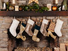 DIY Funky Christmas Stockings >> http://blog.diynetwork.com/maderemade/how-to/make-your-own-funky-christmas-stockings?soc=pinterest