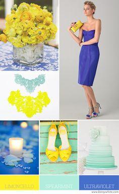 Color Palette: Limoncello, Spearmint, and Ultraviolet
