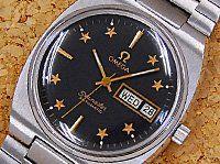 【雑誌掲載商品】【OMEGA】【オメガ】【SEAMASTER/シーマスター】『ゴールドスターダイヤル&ブラック/トノーケース』1970年代製 自動巻き アンティーク・ウォッチ(Antique watch)  w-6040 - オメガ / カラーダイヤル [株式会社スイートロード]