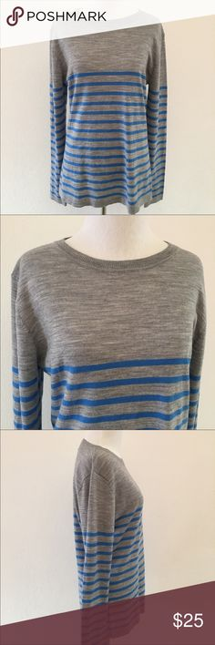 Patagonia Wool Long Sleeve Shirt Gray Blue size L Pre-owned authentic Patagonia Wool Long Sleeve Shirt Gray Blue size L. Has a tiny hole. Other than this, shirt looks like new condition. Please look at pictures for better reference. Happy Shopping! Patagonia Tops Tees - Long Sleeve
