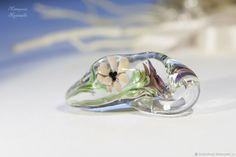 """Купить Кулон лэмпворк """"Цветы настроения"""" - цветы, цветок, кулон, подарок, подвеска, фиолетовый, нежный"""