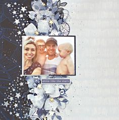 Kaisercraft Stargazer Publication Layout Tutorial by Alicia McNamara Christmas Scrapbook Layouts, Scrapbook Page Layouts, Diy Scrapbook, Scrapbook Pages, Scrapbooking Ideas, Photo Layers, Paper Place, Craft Tutorials, Craft Ideas