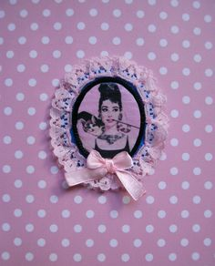 Felt applique.Fabric applique.Audrey by OldPaperPerfume on Etsy