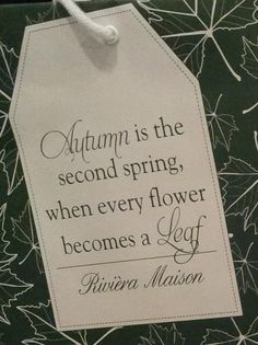 Autumn by Riviera Maison