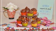 Cupcakes con relleno de chocolate