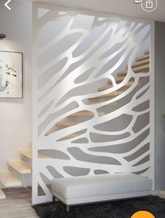 Laser panal, Wall decal from steel Design wall decoration, Metal Wall Art, Modern Home Decoration. Glass Partition Designs, Living Room Partition Design, Living Room Divider, Wall Decor Design, Ceiling Design, Hallway Decorating, Staircase Design, Home Interior Design, Room Decor