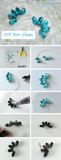 DIY Ear Clips Ear Cuffs Tutorial:
