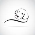 Vector image of an dog labrador Royalty Free Stock Photo