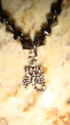 Genuine Hematite Scorpion Charm Anklet