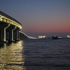 """Mississippi Gulf Coast.  This is the new bridge that takes you into Biloxi.  The first casino you come to now is Harrod's Golden Nugget which was recently purchased to replace the original """"Isle of Capri"""" casino."""