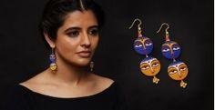 Razia Kunj ♥ Handcrafted Jewelry ♥Temple Earrings  . J