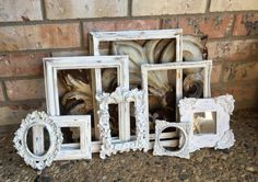Off White Vintage Frame Collection Ornate Baroque by FeFiFoFun