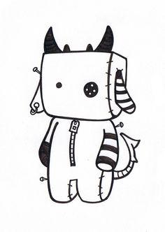 Doodle 068 by Cute Doodle Art, Doodle Art Designs, Doodle Art Drawing, Doodle Sketch, Cute Doodles, Pencil Art Drawings, Kawaii Drawings, Easy Drawings, Doodle Doodle