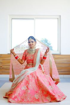 """Photo from album """"Wedding photography"""" posted by photographer Painting Pictures Red Lehenga, Bridal Lehenga, Saree Wedding, Wedding Dresses, Saree Gown, Wedding Preparation, Pictures To Paint, Wedding Colors, Wedding Photography"""