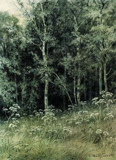 Flowers in the forest - Ivan Shishkin