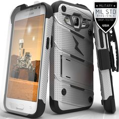 For Samsung Galaxy Prevail LTE G360 - Core Prime - S820L Military Grade Drop-Tested Case with Tempered Glass Screen Protector