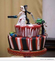 Zombie Apocalypse wedding cake!