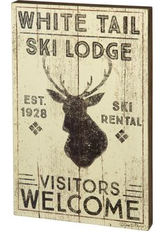 White Tail Lodge Sign