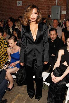 Pin for Later: Le Meilleur de la Fashion Week de New York Se Trouvait au Premier Rang Naya Rivera Au défilé Christian Siriano.