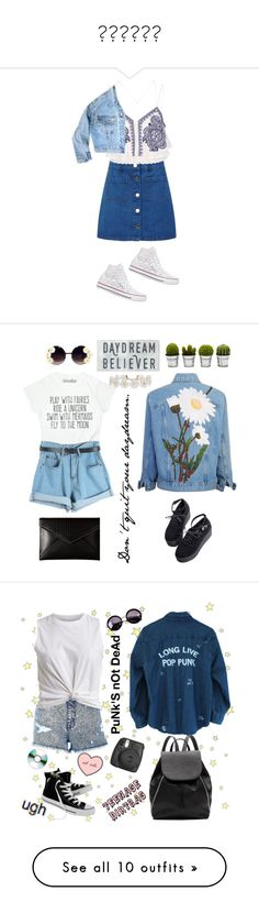 """⚛️☯️⚛️"" by lahhvc ❤ liked on Polyvore featuring Miss Selfridge, River Island, GUESS, Converse, Chicnova Fashion, Humble Chic, Billabong, Rebecca Minkoff, Linda Farrow and Witchery"
