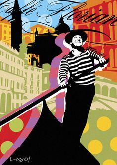 WAGGON   VENICE   LOBO   POP ART www.lobopopart.com.br