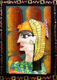 Egyptian Art, cartouch? print background,