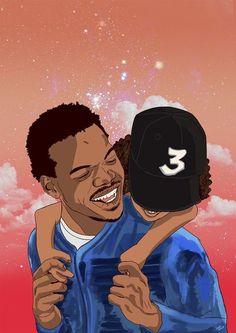 Chance the Rapper Poster by inkshipArt on Etsy - # - # Chance The Rapper Art, Chance The Rapper Wallpaper, Trill Art, Hip Hop Art, Dope Art, Cartoon Art, Black Art, Music Artists, Art Inspo