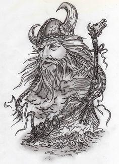 viking drawing   Viking and Ship by ~SMP-kitten on deviantART