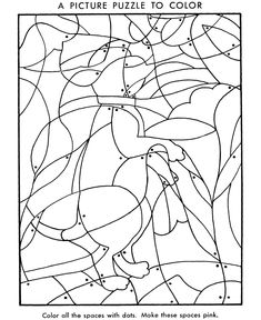 Hidden Picture Coloring Page Fill in the colors to find hidden