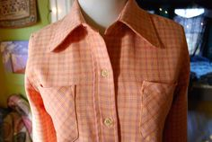 Vintage plaid button up shirt womens size M by CerealVintageThrift, $13.00