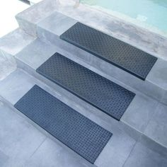 """Diamond-Plate"" Step Non-Slip Rubber Stair Tread Mat This is actually not a bad price! ""Diamond-Plate"" Step Non-Slip Rubber Stair Tread Mat"