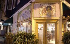 san francisco bay area, san francisco, night photography, divisadero, street art, bean bag cafe