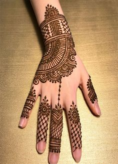 Explore latest Mehndi Designs images in 2019 on Happy Shappy. Mehendi design is also known as the heena design or henna patterns worldwide. We are here with the best mehndi designs images from worldwide. Dulhan Mehndi Designs, Mehandi Designs, Mehndi Designs 2018, Mehndi Designs For Girls, Mehndi Designs For Beginners, Mehndi Designs For Fingers, Mehndi Designs For Hands, Hena Designs, Henna Hand Designs
