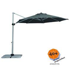 Schneider Sonnenschirm SAMOS 300/8 Anthrazit, Ampelschirm, Marktschirm Great Ideas
