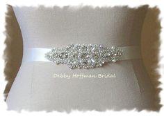 Rhinestone Crystal Pearl Bridal Sash Wedding by DebbyHoffmanBridal, $40.00