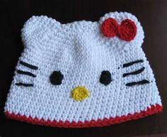 Hello kitty crochet baby hat