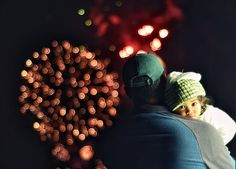 Fireworks. Daddy. And daughter. So sweet.