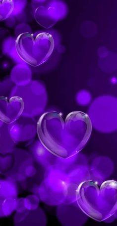 Purple Flowers Wallpaper, Purple Wallpaper Iphone, Love Wallpaper, Cellphone Wallpaper, Love Heart Images, Love You Images, Purple Love, Purple Hearts, Love Heart Drawing