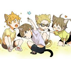 (~ ̄³ ̄)~ Omg these #Haikyuu! chibbikos..... too adorbs for me!! Now I have to schedule a dentist appointment