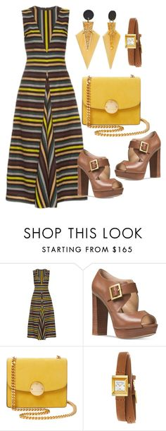 """""""Untitled #1152"""" by naviaux ❤ liked on Polyvore featuring Emilia Wickstead, Michael Kors, Marc Jacobs and Gucci"""