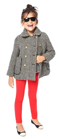 J. Crew kids tweed peacoat. Strictly inspiration. $225 on a kids coat? No. ;)