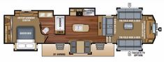Finding a fifth wheel RV that fits your needs doesn't need to be overwhelming. Here's a list of popular fifth wheel floor plans that can help get you started. Jeep Camping Trailer, Camper Trailers, Travel Trailers, 5th Wheel Living, Queen Bed Linen, Theatre Style Seating, Camper Flooring, Luxury Fifth Wheel, Rv Floor Plans