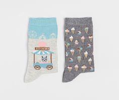 Pack of ice cream pattern socks - OYSHO