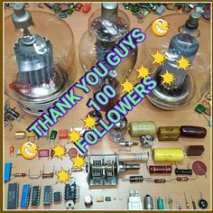 👏👏100 Followers👏👏 😆😆Thank you guys😆😆 #electronics #microprocessor #instatech #electronic #transistor #robotics #arduino #digitallogic #computer #electronicsengineering #vintageelectronics #retroelectronics #elettronica #technology #tech #tube #vacuum #hifi #audio #radio #retro #electronica #elektronik #oscilloscope #электроника #électronique #bestoftheday #instagood #picoftheday #TagsForLikes #phones #gadget #electronic