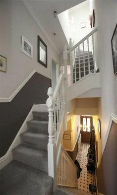 4 bedroom terraced house for sale in Kings Road, Pontcanna, Cardiff - Rightmove Victorian Terrace Hallway, Edwardian Hallway, Hallway Designs, Hallway Ideas, Hallway Colours, Entry Hall, Hallway Decorating, Modern Country, Staircases
